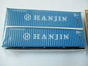 Jacksonville Terminal Company 405012 Hanjin 40' Hi-cube Container N-scale
