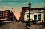Postcard Il Chicago Milwaukee Ave North Of West Division St Street View 1917 M21