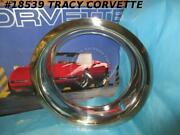 1968-1982 Corvette 3923626 8 Rally Wheel Stainless Steel Trim Rings Correct F/4