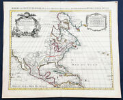 1730 G Delisle Covens And Mortier Large Antique Foundation Map Of North America