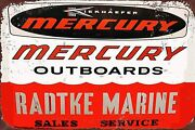Mercury Outboard Motors Marine Sales Fishing Boating Tin Metal Sign 8x12 Inches