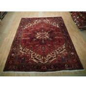 9x11 Authentic Hand Knotted Semi-antique Rug B-73502