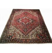 9x12 Authentic Hand-knotted Antique Oriental Wool Rug Red B-79942