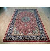 7x10 Authentic Hand Knotted Semi-antique Rug B-72116