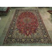7x10 Authentic Hand Knotted Semi-antique Wool Rug Red B-74019