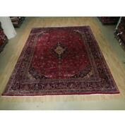 10x12 Authentic Hand Knotted Semi-antique Wool Rug Red B-73549