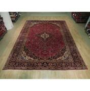 10x13 Authentic Hand Knotted Semi-antique Wool Rug Red B-73567