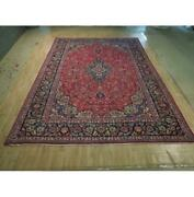 10x14 Authentic Hand Knotted Signed Oriental Wool Rug Red B-74431