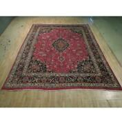 10x12 Authentic Hand Knotted Semi-antique Wool Rug Red B-74436
