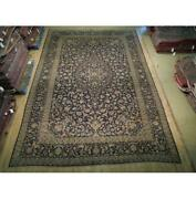 10x15 Authentic Hand Knotted Semi-antique Wool Rug Blue B-74853