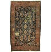 11x18 Authentic Hand-knotted Antique Lavar Wool Rug Dark Green B-79949