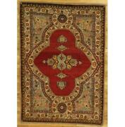 5x7 Hand-knotted Antique Shah Rug Pix-29271