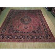10x12 Authentic Hand Knotted Semi-antique Wool Rug Red B-73827