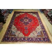 10x13 Authentic Hand Knotted Semi-antique Rug B-74564