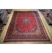 10x13 Authentic Hand Knotted Semi-antique Wool Rug Tred B-74811