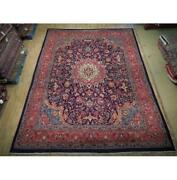 10x13 Authentic Hand Knotted Semi-antique Wool Rug Red B-74843