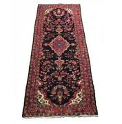 4x10 Authentic Hand-knotted Semi-antique Runner B-79907