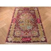 Collectable Signed 3x5 Authentic Handmade Lavar Antique 1900's Rug Pix-8866