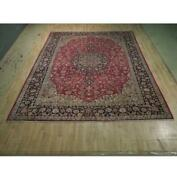 10x12 Authentic Hand Knotted Semi-antique Wool Rug Red B-74448