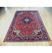 7x10 Authentic Hand Knotted Semi-antique Rug B-72105