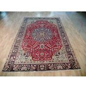 7x10 Authentic Hand Knotted Semi-antique Rug B-72097