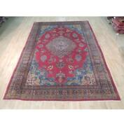 8x12 Authentic Hand Knotted Semi-antique Rug B-71986