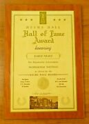 Earle Greasy Neale Helms College Pro Football Hall Of Fame Award 13.25 X 19.75