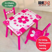 3pcs Wood Play Activity Table And Chair Set Childrenand039s Kids Indoor Desk Outdoor