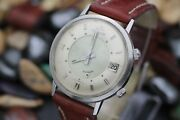 Vintage Lecoultre Memodate Automatic Stainless Steel 36.5mm Menand039s Dress Watch