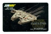 Subway Millennium Falcon Star Wars Force Awakens Collectible Gift Card