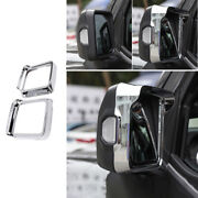 Rear View Side Mirror Frame Cover Trim Abs Chrome For Jeep Wrangler Jl 2018-2020