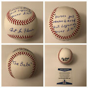 Art Lafleur Signed Baseball With The Sandlot Babe Ruth Quote With Beckett Coa