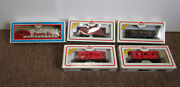 Model Power Ho Scale Santa Fe 3500 And 3 Cabooses And Bay Open Hopper - New