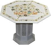 26 Marble Top Table Mop Paua Shell Floral Inlay Arts Decors With 16 Stand W473