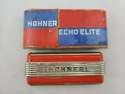 Vintage Art Deco M. Hohner Echo Elite Harmonica In Box Made In Germany