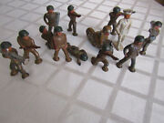 12 Vintage Barclay Pod Foot Soldiers