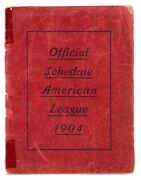 1904 American League Sporting Life Schedule Booklet With Team Composites