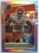 2020 Donruss Optic Preview Holo Prizm Clyde Edwards-helaire Chiefs Rated Rookie