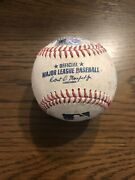 Andres Gimenez Game Used Baseball From His 1st Career Hit At Bat - Ny Mets - Mlb