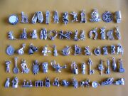 A Vintage Sterling Silver Charms Charm Boot Well Guitar Clock Throne Bells Ship