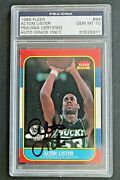 Alton Lister Signed 1986 Fleer 64 Autographed Basketball Card Psa Authentic
