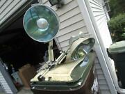 Vintage Burton Double 14andrdquo Dome Ceiling Operating Surgical Lamps Very Clean