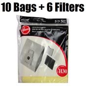 Hoover Type H30 Pack 10 Vacuum Bags And 6 Filters 40101001 Genuine