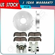 Rear Brake Rotors Calipers With Ceramic Pads For 2004 Ford F-150 Heritage