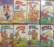 Lot Of 8 Arthur Educational Vhs Tapes Vintage Clean And Tested Learning Tools