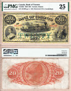 1929 20 Bank Of Toronto Td Bank Large Size Train Note. Pmg Vf25