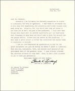 Charles A. Lindbergh - Typed Letter Signed 07/20/1967
