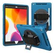 For Ipad 10.2 8th Generation 2020 Rotating Case Cover Built-in Screen Protector