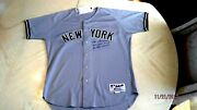 Joe Torre Game Worn And Signed 2002 Yankees Manager Jersey -mears And Steiner Auth.