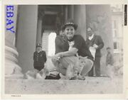 Claudia Cardinale W/cats Candid Vintage Photo